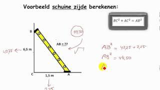 Pythagoras. WzB de stelling van Pythagoras Module M5