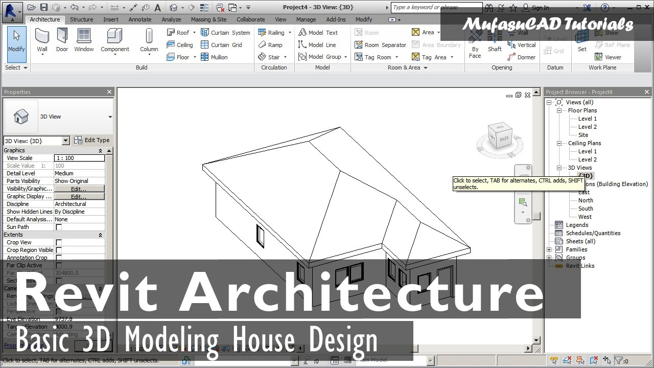 Revit architecture basic exterior house design tutorial Add architectural details exterior home