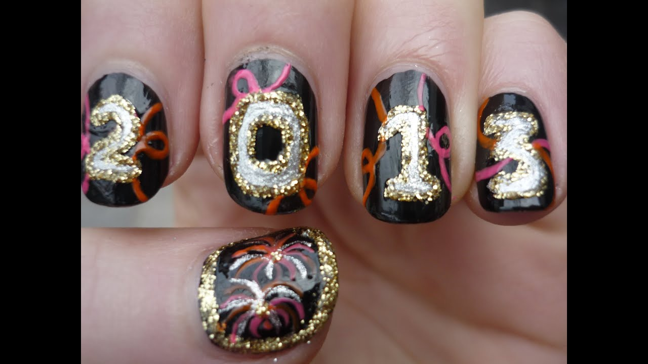 New Years Nail Design Images: Happy new year nail art beauty paradise.
