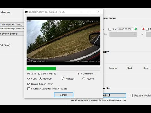 How to fill gaps between video sequences in RaceRender3 from Blackvue camera files thumbnail