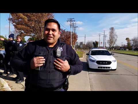 1st amendment audit South Bend Community School bus station Indiana Cops called ID refusal