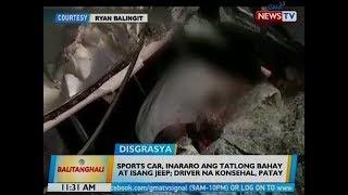 BT: Sports car, inararo ang 3 bahay at 1 jeep sa Bulacan; driver na konsehal, patay