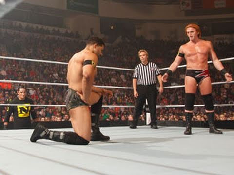 Raw: Barrett forces Otunga to lay down and surrender