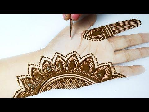 शेडेड मेहँदी डिज़ाइन लगाना सीखे - Easy Shaded Mehndi Design for Hands -