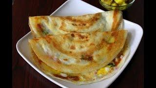egg dosa - hyderabad street food - dosa recipe