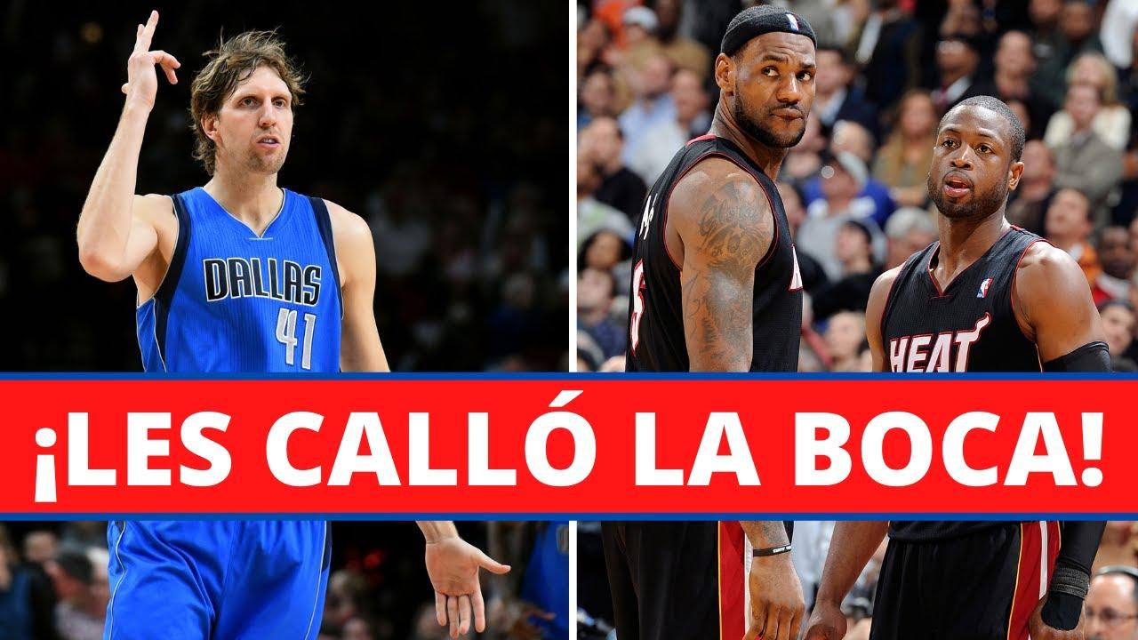 Cómo Dirk Nowiztki LE CALLÓ LA BOCA a LeBron James y Dwyane Wade!🤐