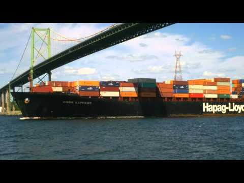 Container Ship Kobe Express in Halifax  July 19, 2012