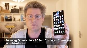 Samsung Galaxy Note 10 Test Fazit nach 2 Wochen