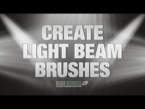How to create Light Beam Brushes — Photoshop Tutorial