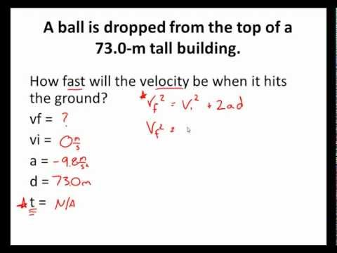Free Fall Motion Practice 1d Kinematic Motion Youtube