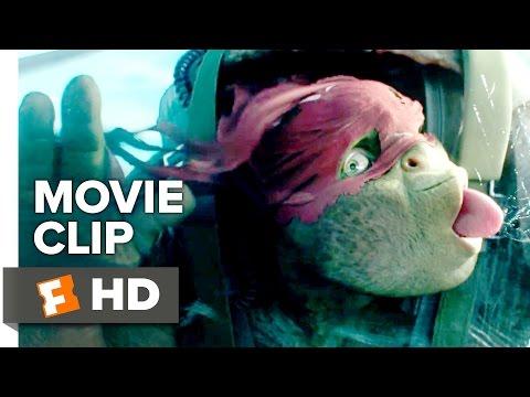 Teenage Mutant Ninja Turtles: Out of the Shadows Movie CLIP - Airplane Jump (2016) - Movie HD
