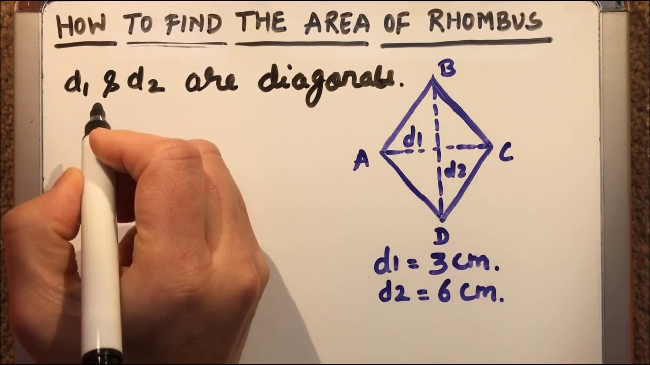 How To Find The Area Of Rhombus Using Formula