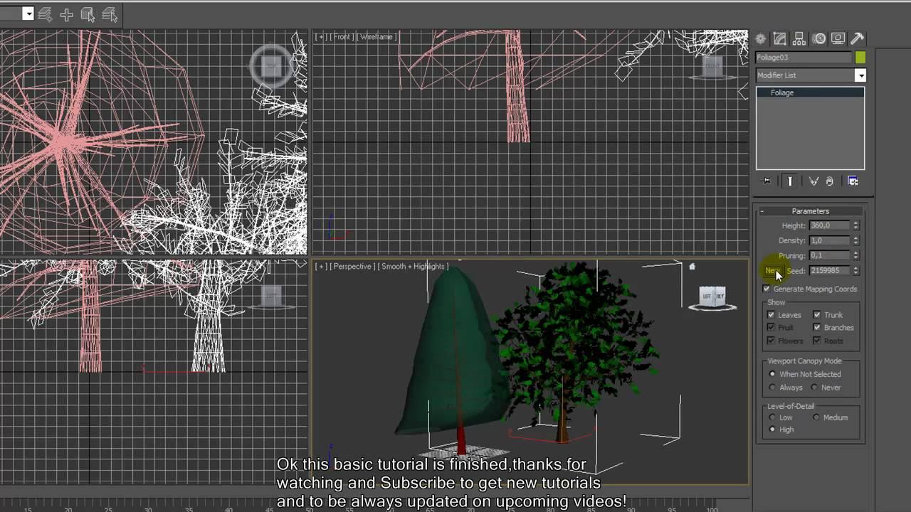 3ds Max tree tutorial