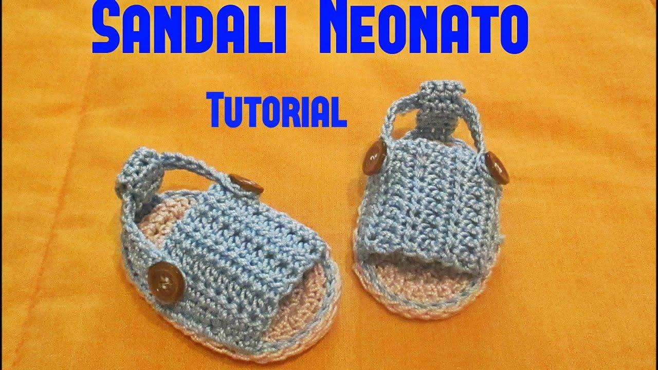 scarpe temperamento prima i clienti codice coupon Sandali Neonato -Tutorial Uncinetto #6#