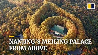 Drone footage captures views of China Meiling Palace