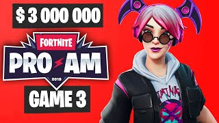 Fortnite PRO AM Game 3 Highlights - Summer Block Party Highlights