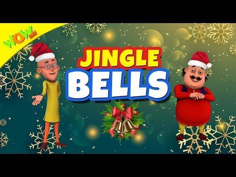 Jingle Bells Christmas Song for Kids   Hindi Songs for Children   Motu Patlu   Wow Kidz