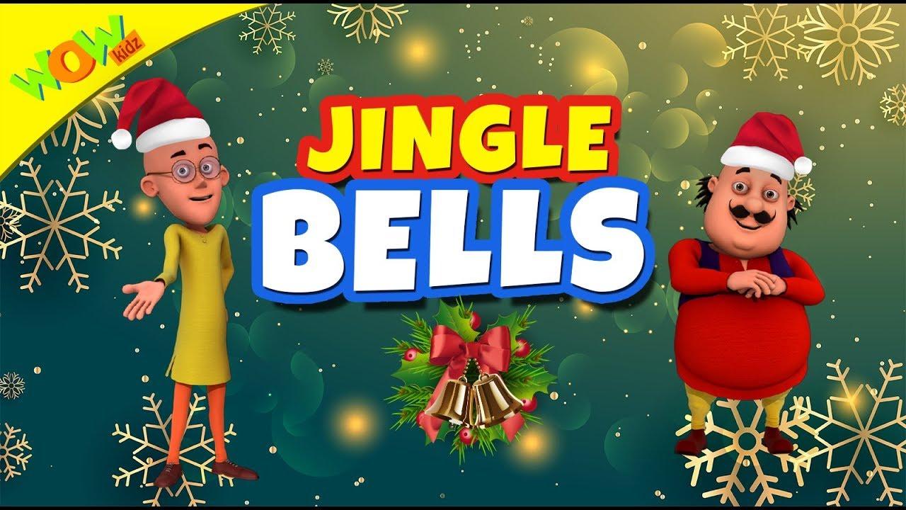 Jingle Bells Christmas Song for Kids | Hindi Songs for Children | Motu Patlu | WowKidz - YouTube