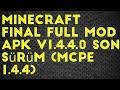Minecraft final full mod apk v1.4.4.0 son sürüm (mcpe 1.4.4) android