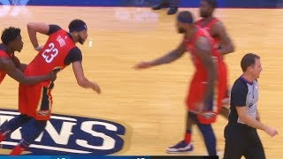 ANTHONY DAVIS FIGHTS REFEREE AFTER GETTING EJECTED FOR THE FIRST TIME