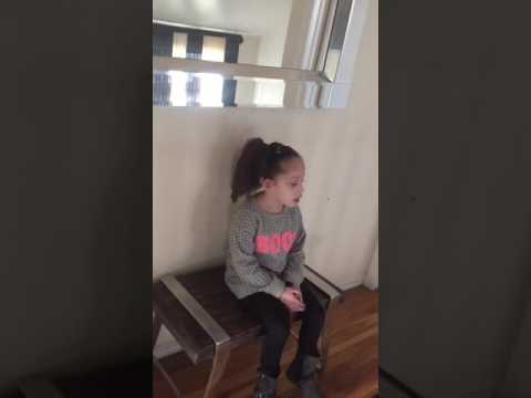 Victoria 4yrs old rants about Martin Luther King Jr DREAM