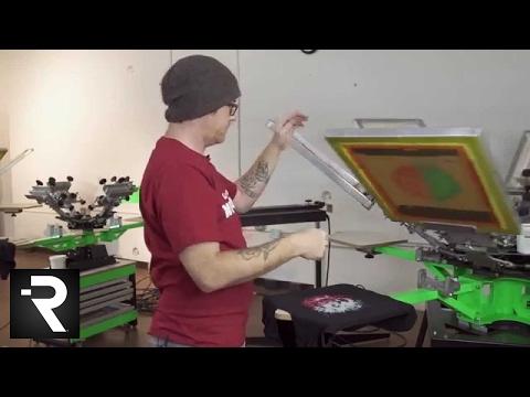 Screen Printing a 6 Color Separation Studio Design