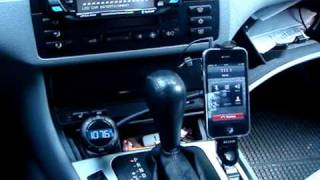 AppleMobile.pl - Belkin TuneBase FM with Hands-free and iPhone.wmv