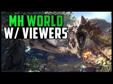 LIVE 🔴 HUNTS WITH VIEWERS | Monster Hunter World Beta Gameplay [First Impressions]