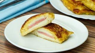 Neskutečně chutná snídaně, kterou připravíte za 20 minut! Toast se šunkou a sýrem.  Chutný TV