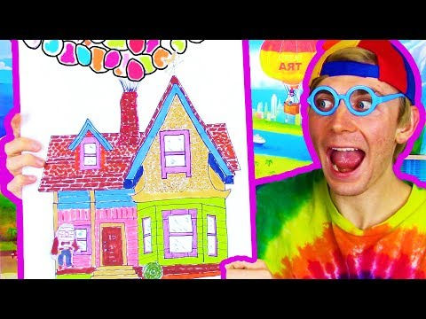 How To Draw And Color A House 🏠😳 House Coloring Page For Kids – Fun Kids Story