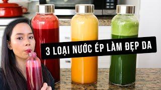 3 VỊ NƯỚC ÉP ĐẸP DA MỖI NGÀY | Emma Pham Kitchen