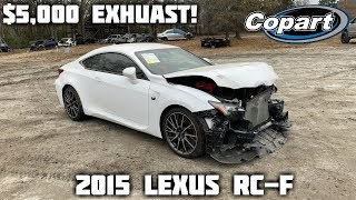 Rebuilding a Wrecked 2015 Lexus RC-F