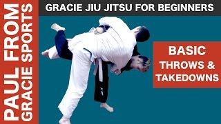 Jiu Jitsu For Beginners: how to do basic throws and takedowns.