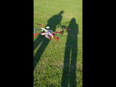 Flying the 450 size quadcopter