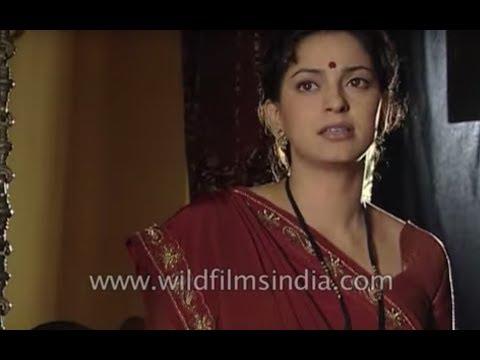 Juhi Chawla gives her mahurat shot for a shelved Hindi movie 'Sanatta'
