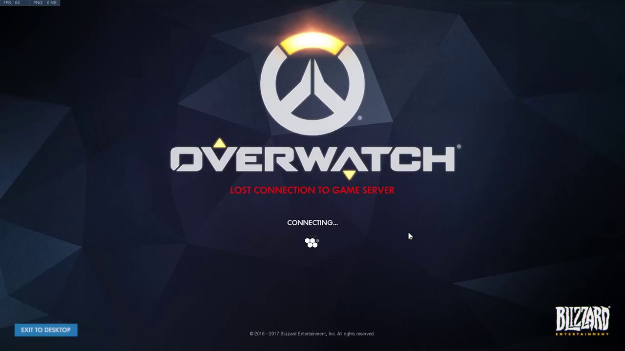 Blizzard Fix your game Overwatch lost connection to game server