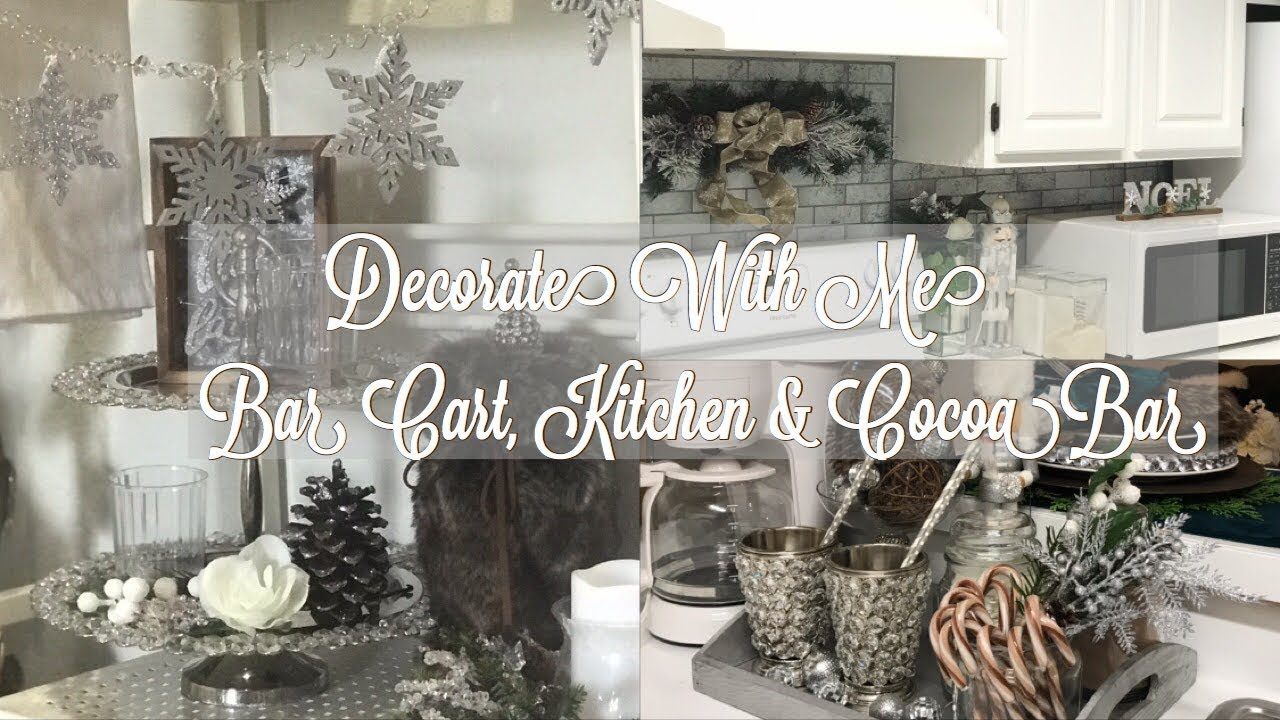 Decorate With Me | Kitchen, Bar Cart & Cocoa Bar | Diy Snowflake Garland on ideas for kitchens, ideas for china cabinets, ideas for bamboo, ideas for gardening, ideas for lighting, ideas for tile, ideas for hardwood floors, ideas for chair, ideas for christmas, ideas for bench, ideas for jewelry, ideas for diy, ideas for wallpaper, ideas for coat rack, ideas for patio, ideas for rugs, ideas for library, ideas for lamps, ideas for books, ideas for spring,