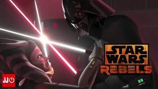 Star Wars Rebels Mid Season Trailer Season 2 Ahsoka vs Darth Vader and Ezra's new lightsaber