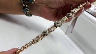 видео Золотой браслет женский с бриллиантами купить