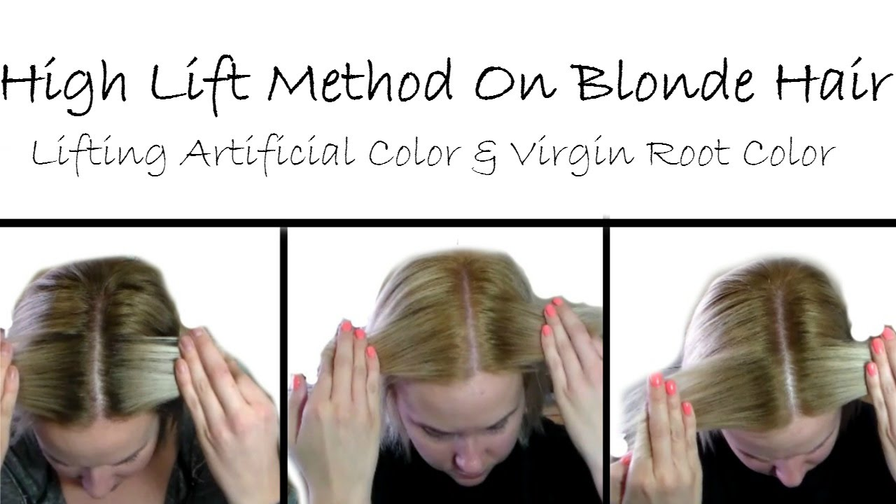 Using Highlift Color To Lighten Virginartificial Colorroot Touch
