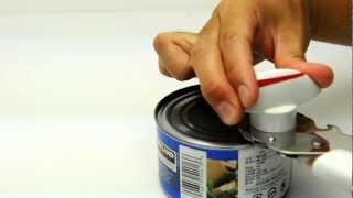 側面から缶を切る「LEIFHEIT カンオープナー セイフティー 62110」(http://gigazine.net/news/20120813-can-opener/ 一体どの缶切りが一番使い勝手がいいのか?メリケンサックっぽく握ったりする缶切りなど5種を使って開けまく..., 2012-08-15T03:37:45.000Z)