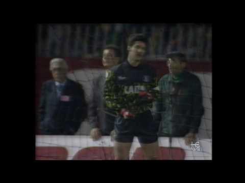 Recopa de Europa 1989-90. Mónaco 0 - Valladolid 0. Tanda de penaltis.