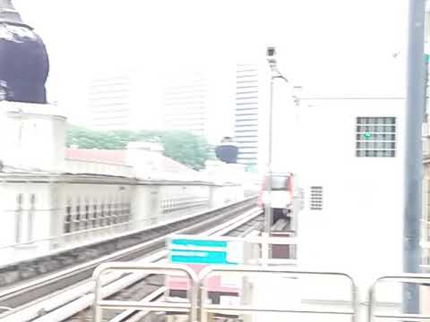 "LRT Ampang / Sri Petaling Line - CSR Zhuzhou ""AMY"" Arriving Masjid Jamek"