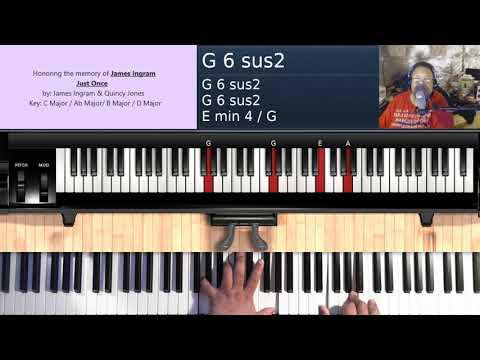 Just Once (by James Ingram & Quincy Jones) - Piano Tutorial