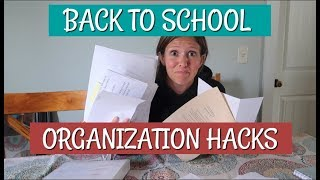 Back to School Organization Hacks | The School Binder