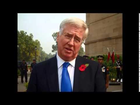 UK Defence Secretary in India
