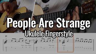 The Doors - People Are Strange (Ukulele Fingerstyle / Chord Melody)