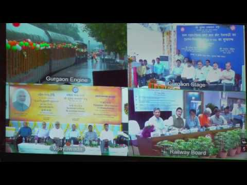 Shri Suresh Prabhakar Prabhu, Hon'ble Minister of Railways flagged off BZA-Dharmavaram on 12.07.2016