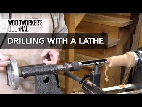 Drilling with the Lathe | Woodturning Tip