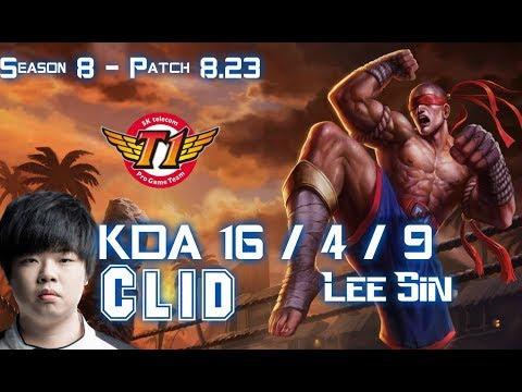 SKT T1 Clid LEE SIN vs KHA'ZIX Jungle - Patch 8.23 KR Ranked